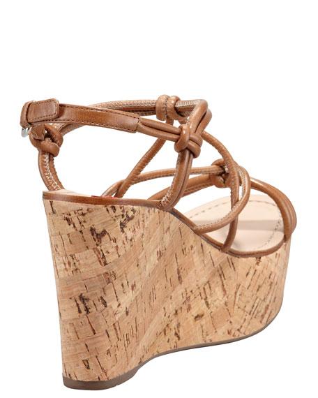 d5e4015b83d Prada Strappy Knot Cork Wedge Sandal