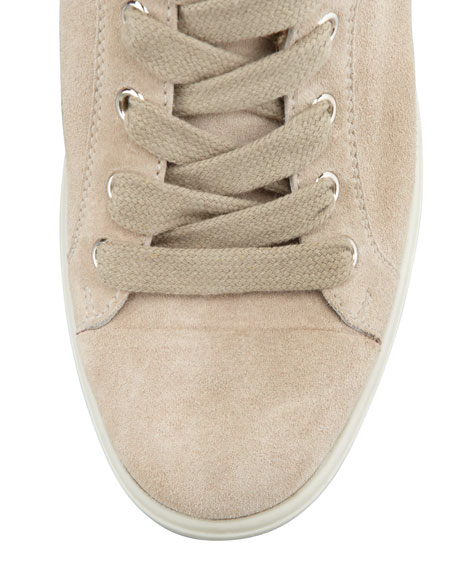 Suede Hi-Top Wedge Sneaker, Pomice