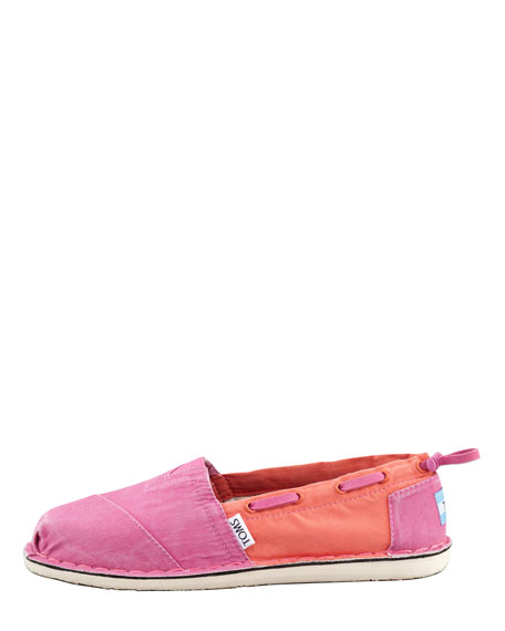 Colorblock Boat Shoe, Pink/Orange