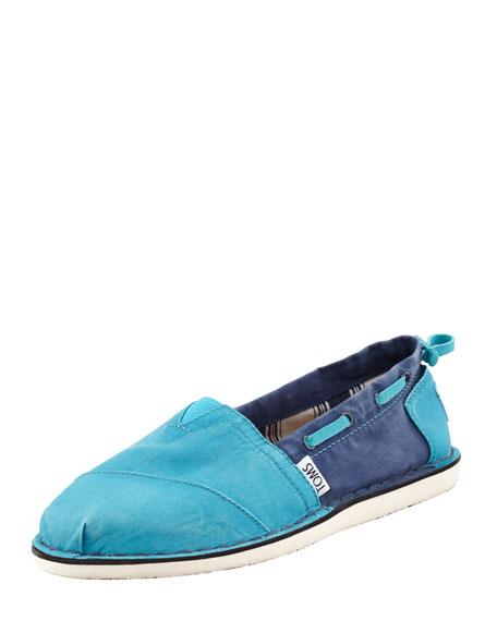 Bimini Colorblock Boat Shoe, Turquoise/Navy