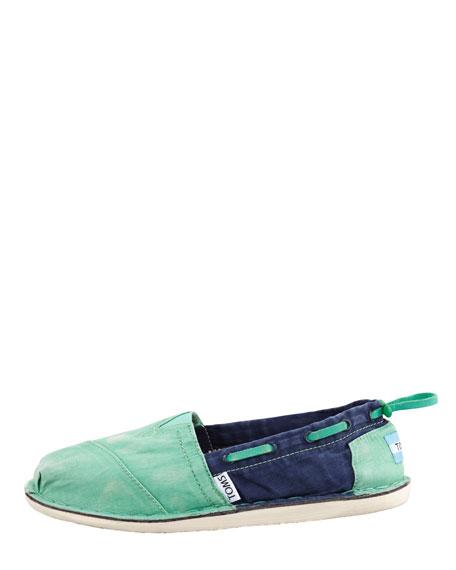 Colorblock Boat Shoe, Green/Blue