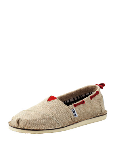 TOMS Bimini Boat Shoe, Burlap