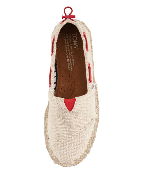 Bimini Boat Shoe, Burlap