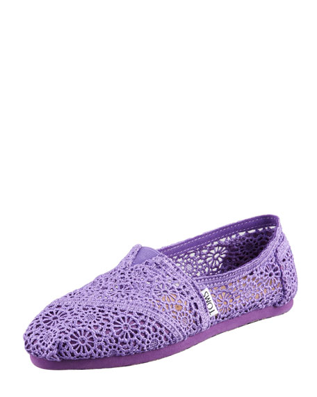 Crochet Slip-On, Purple