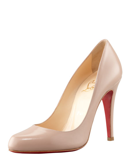 christian louboutin decollete jazz calfskin pumps