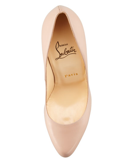 Christian Louboutin Decollete Jazz Red Sole Pump, Nude