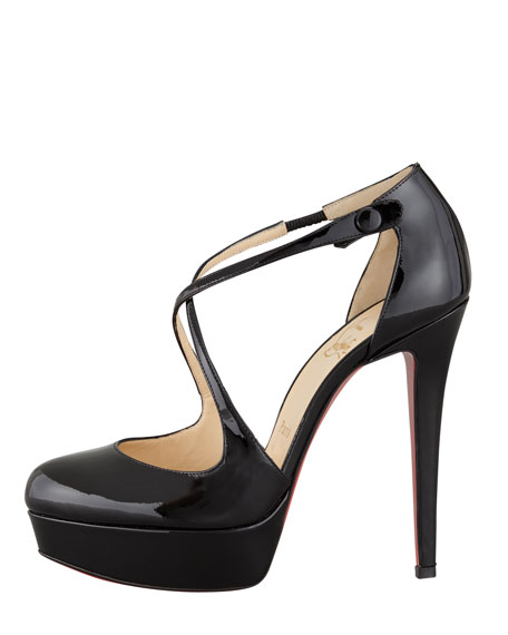 Borghese Patent Platform Red Sole Pump