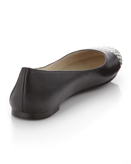 Aria Stud-Toe Ballerina Flat