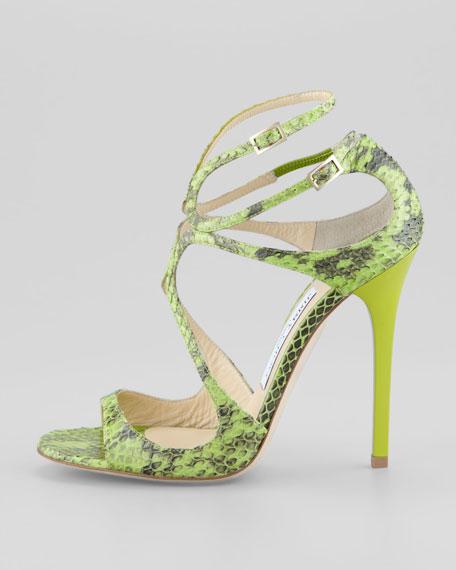 Lance Snakeskin Sandal