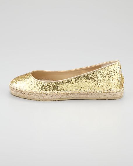 POW Glitter Espadrille, Gold