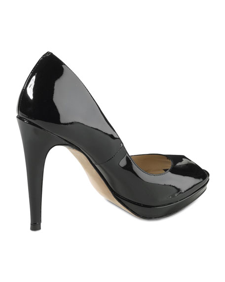 Chelsea Open Toe High Pump, Black