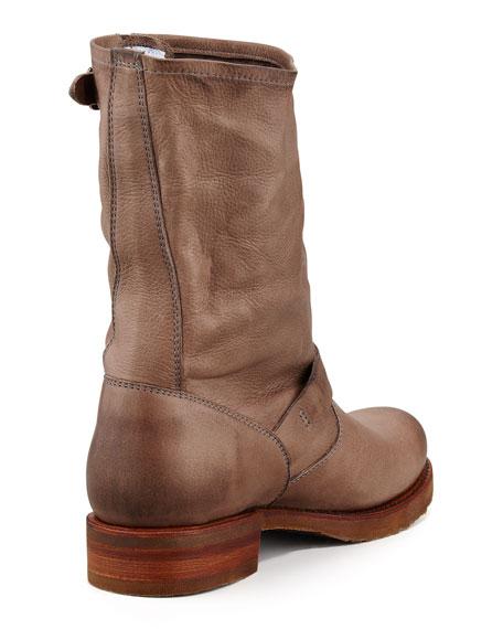 Veronica Shortie Motorcycle Boot, Gray