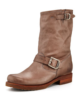 Frye Veronica Shortie Motorcycle Boot, Gray