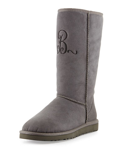 UGG Australia Monogrammed Classic Tall Boot, Gray