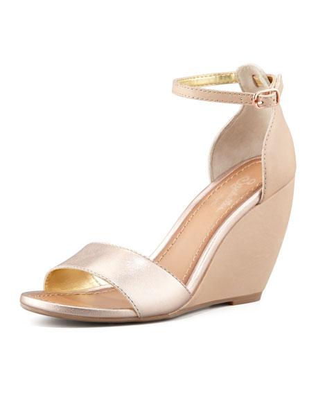 Thyme Metallic Wedge Sandal