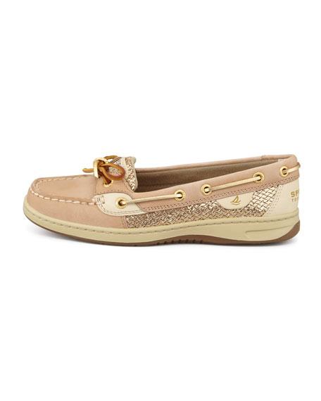 Angelfish Metallic Glittered Slip-On, Linen/Gold