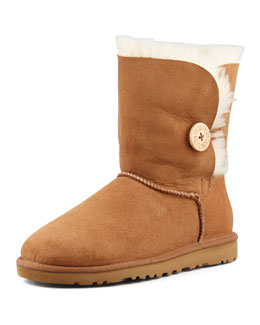 UGG Australia Monogrammed Bailey Button Short Boot