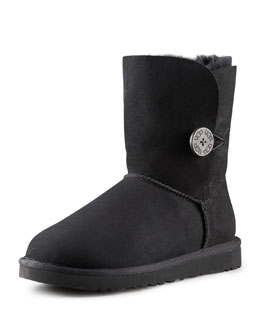 UGG Australia Bailey Button Short Boot, Black
