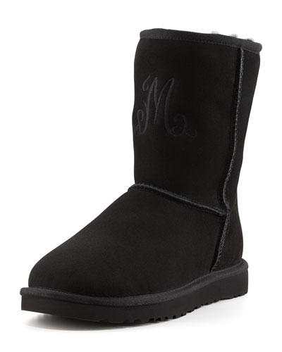 UGG Australia Monogrammed Short Boot, Black