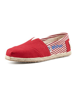 TOMS Personalized Classic University Slip-On, Red