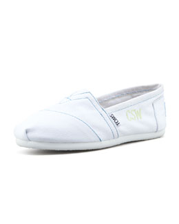 TOMS Personalized Classic Canvas Slip-On, White