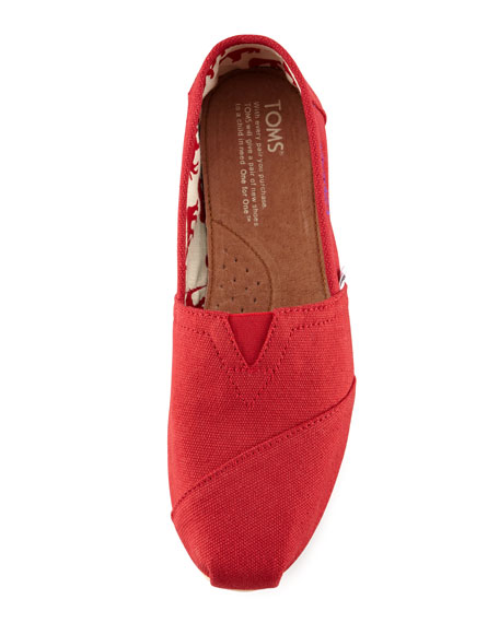 Classic Canvas Slip-On, Red