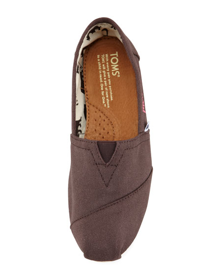 Personalized Classic Canvas Slip-On, Chocolate