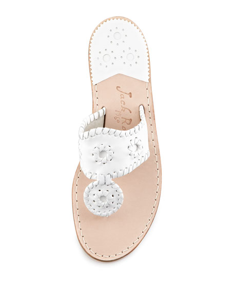Palm Beach Whipstitched Thong Sandal, White