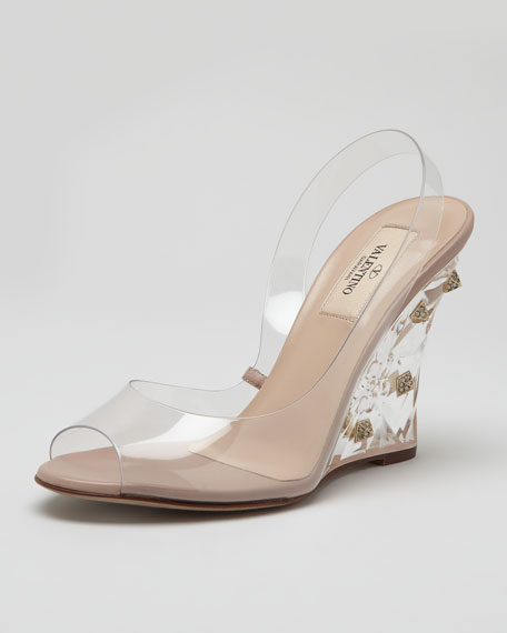 Naked Rockstud Wedge Sandal