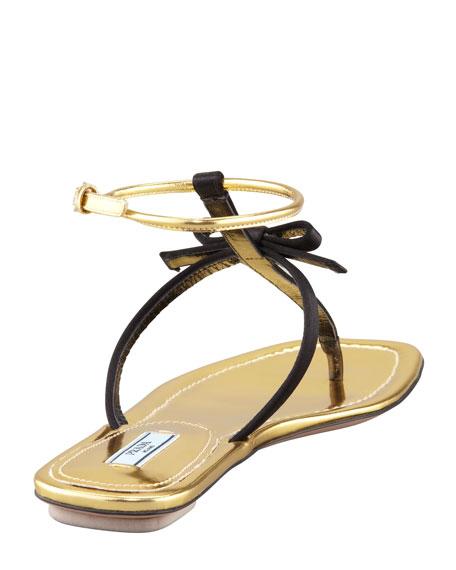 Satin Bow Thong Sandal