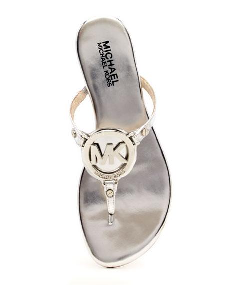 Melodie Metallic Logo Thong Sandal