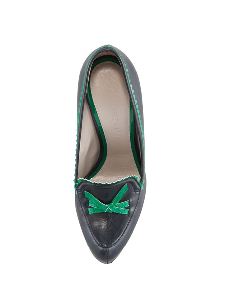 Patent-Trimmed Loafer Pump