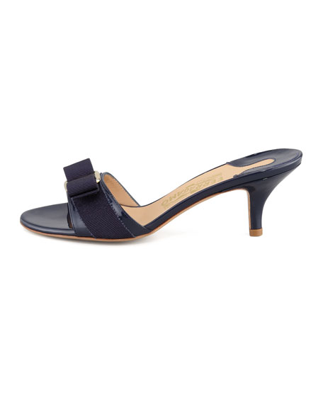 Glory Patent Bow Slide, Oxford Blue