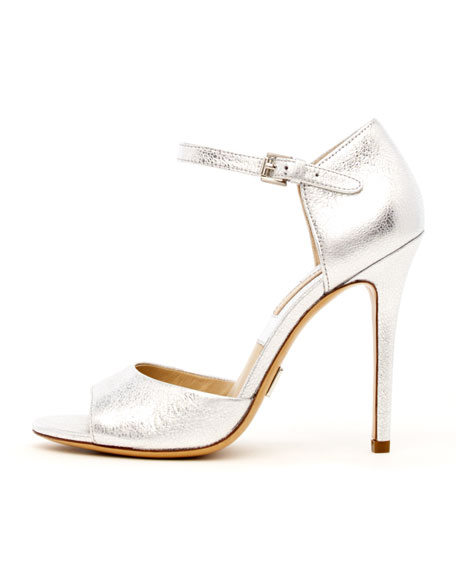 Malia Metallic Peep-Toe Pump