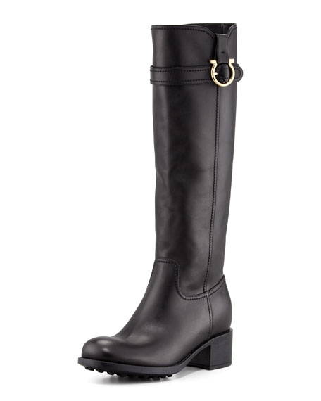 Robespierre Gancini Riding Boot, Black