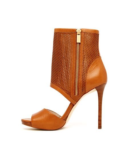 Daria Perforated Open Bootie