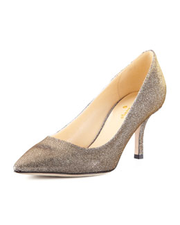 kate spade new york lurex pointed-toe mid-heel pump