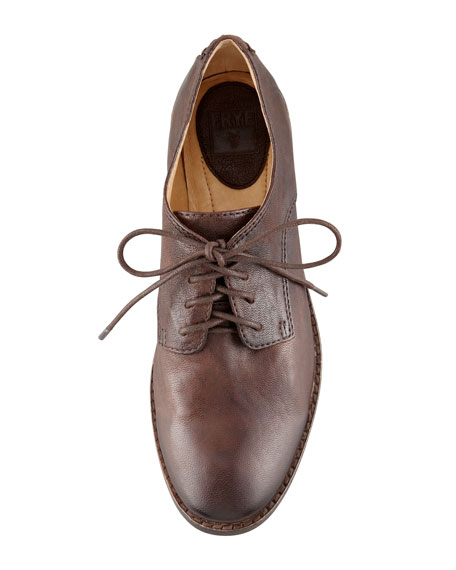 Anna Leather Oxford, Brown