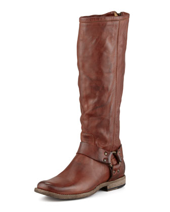 Phillip Tall Harness Boot, Cognac