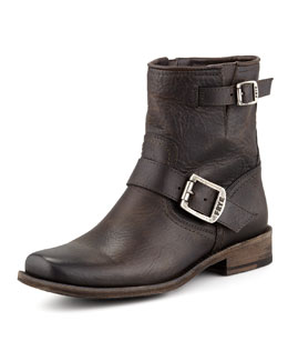 Frye Smith Short Engineer Boot, Charcoal