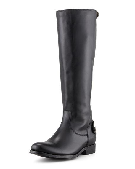 Melissa Zip Riding Boot, Black