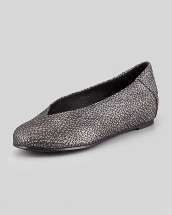 Patch Starry Metallic Ballerina Flat