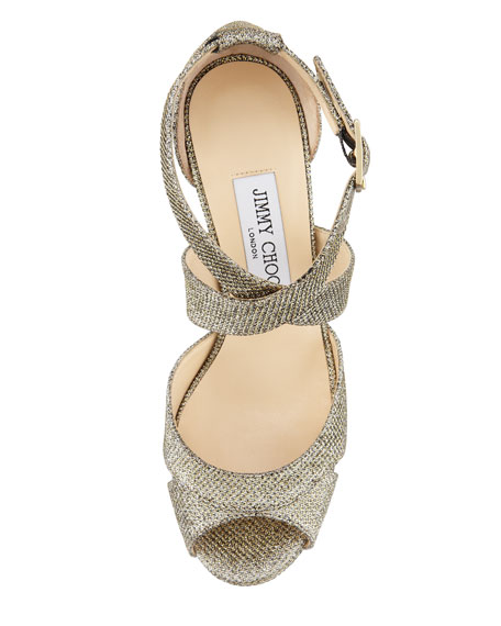 Kuki Glitter Platform Pump, Light Bronze