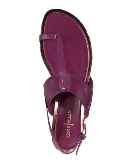 Pelham Flat Leather Sandal, Winery