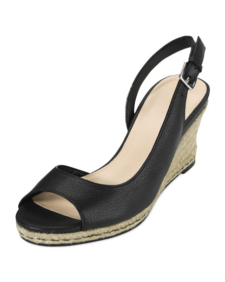 Adelaide Leather Mid Wedge, Black