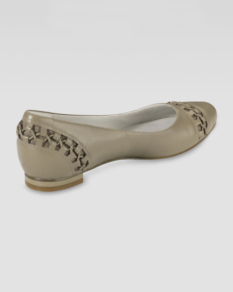 Air Baily Lacing-Detail Ballerina Flat, Summer Khaki