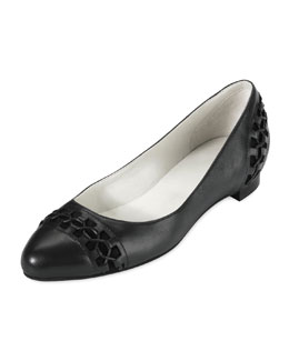 Cole Haan Air Baily Lacing-Detail Ballerina Flat, Black