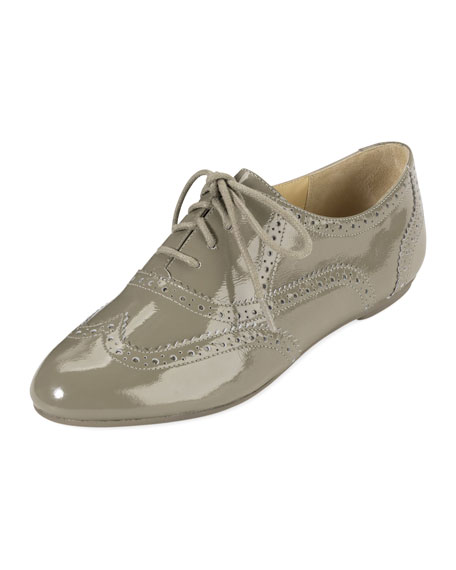 Tompkins Patent Leather Oxford, Summer Khaki
