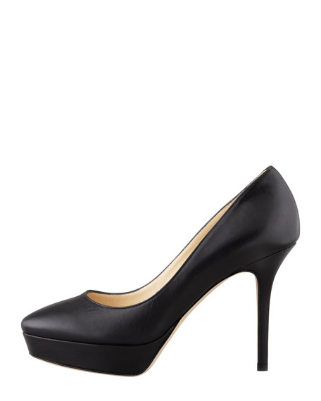 Aster Leather Low-Ranger Pump, Black