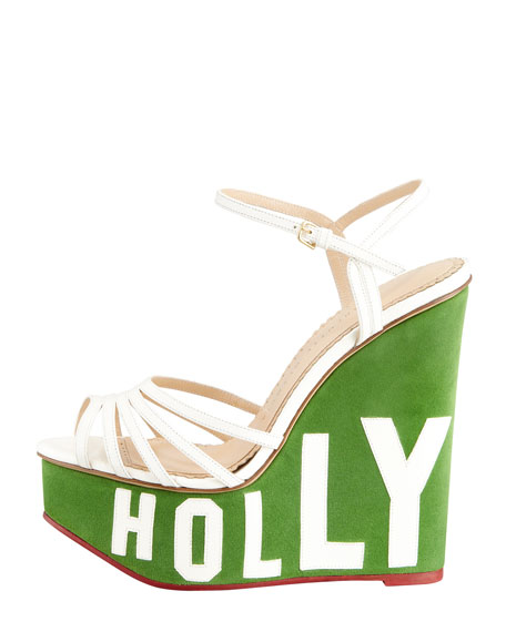 Hollywood Lettered Wedge Sandal